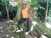 Me at Castleton Gardens (cotton tree)