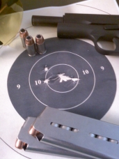 @ 25 yards - What's funny about this is that I was a no go with the BerettaM9... I love my 45