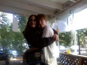 Me and my baby on his front porch