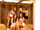 me and the bestfriends(: in one of my daddys barns