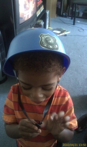 My boy may be the next top cop