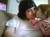Matilda giving mommy kisses